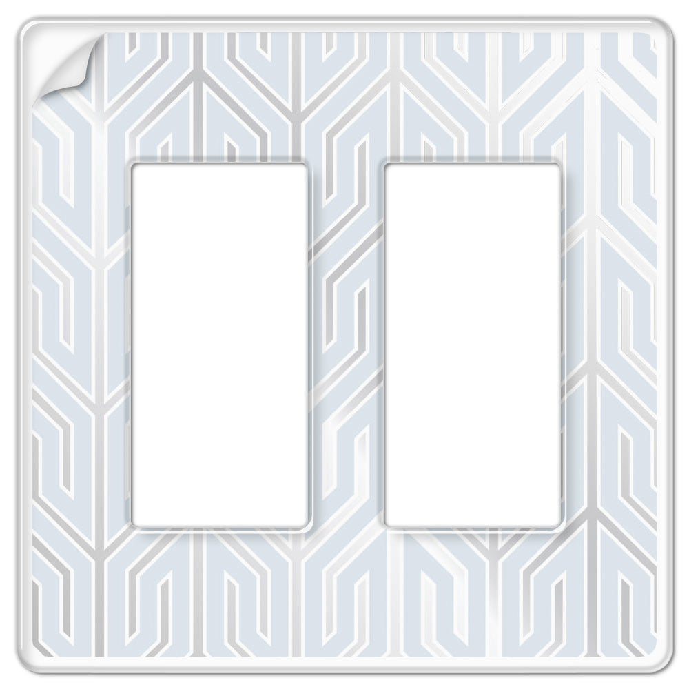 Paper-It Clear Screwless Plastic - 2 Rocker Wallplate - Wallplate Warehouse