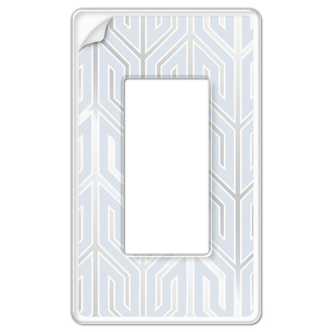 Paper-It Clear Screwless Plastic - 1 Rocker Wallplate - Wallplate Warehouse