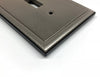 Ambient Brushed Nickel Cast Metal  - 1 Toggle Wallplate