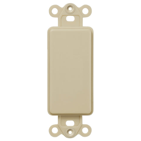 Blank Rocker Insert - Ivory - Wallplate Warehouse
