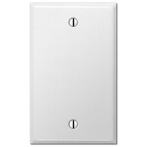 Pro White Smooth Steel - 1 Blank Wallplate - Wallplate Warehouse