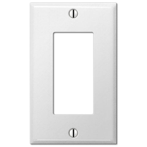 Pro White Smooth Steel - 1 Rocker Wallplate - Wallplate Warehouse