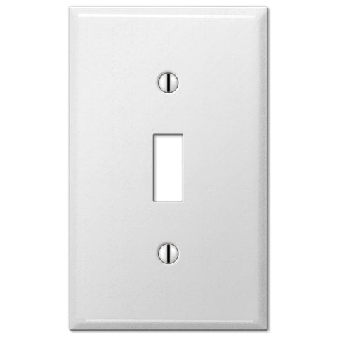 Pro White Smooth Steel - 1 Toggle Wallplate - Wallplate Warehouse