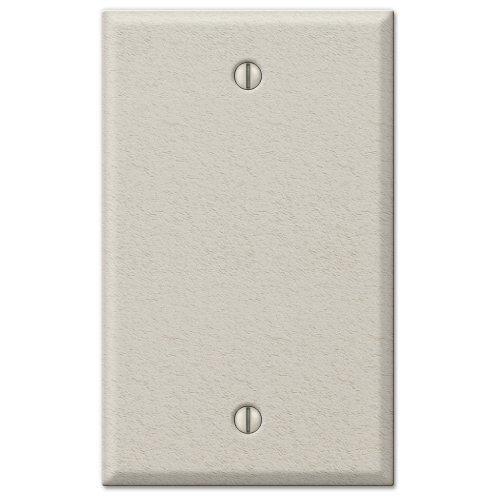 Pro Light Almond Wrinkle Steel - 1 Blank Wallplate - Wallplate Warehouse