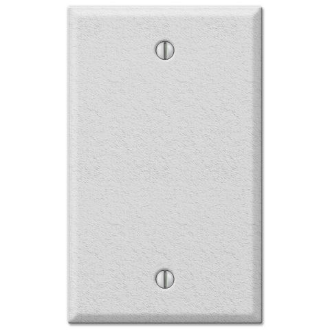 Pro White Wrinkle Steel - 1 Blank Wallplate - Wallplate Warehouse