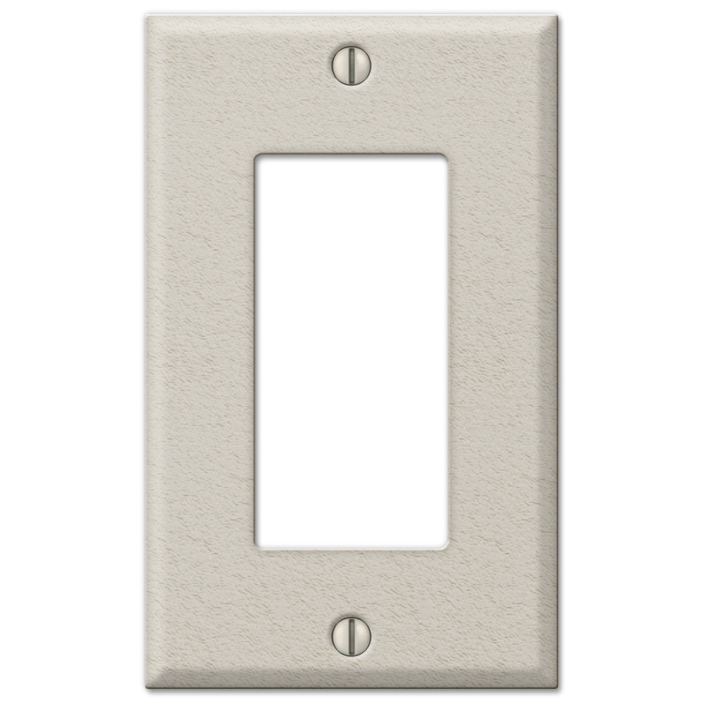Pro Light Almond Wrinkle Steel - 1 Rocker Wallplate - Wallplate Warehouse