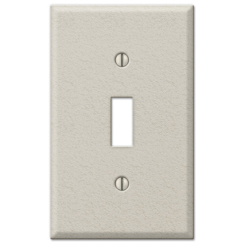 Pro Light Almond Wrinkle Steel - 1 Toggle Wallplate - Wallplate Warehouse