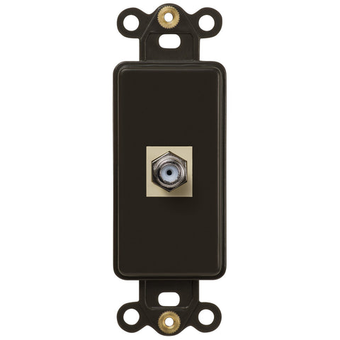Rocker Insert Brown - 1 Cable Jack - Wallplate Warehouse