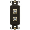 Rocker Insert Brown - 2 Cable Jack - Wallplate Warehouse
