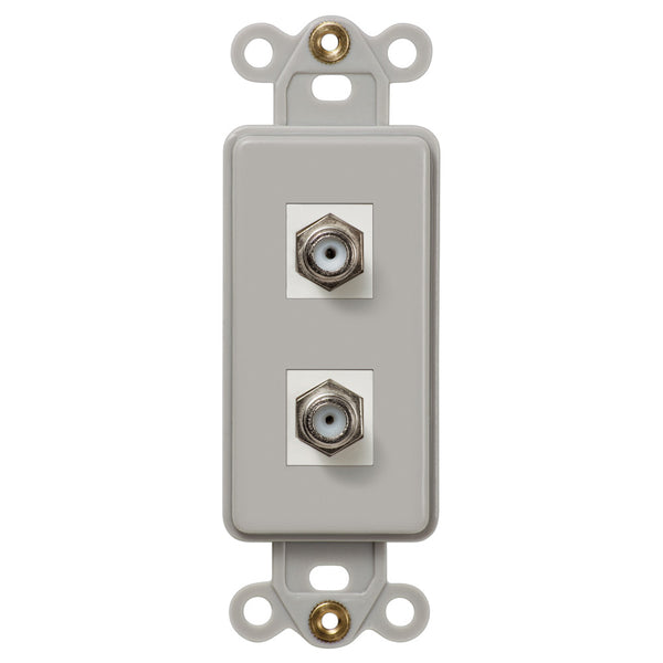 Rocker Insert Gray - 2 Cable Jack - Wallplate Warehouse