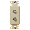 Rocker Insert Ivory - 2 Cable Jack - Wallplate Warehouse