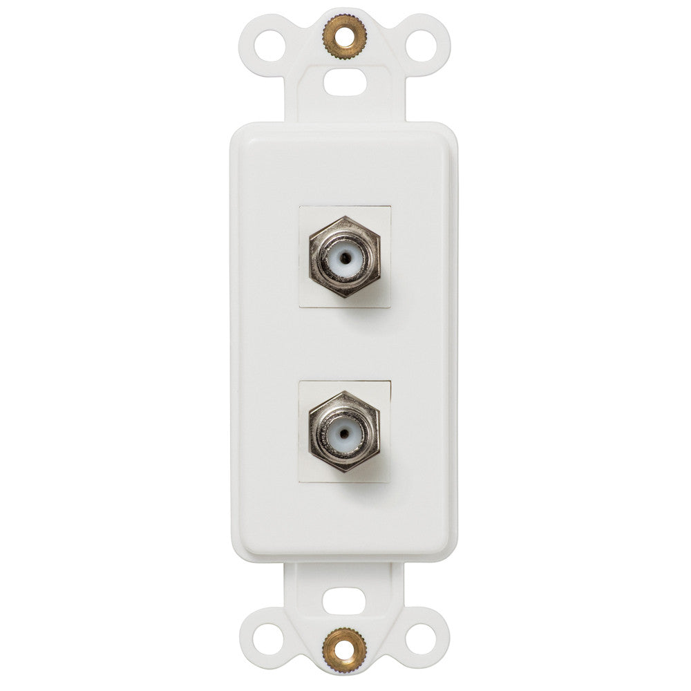 Rocker Insert White - 2 Cable Jack - Wallplate Warehouse