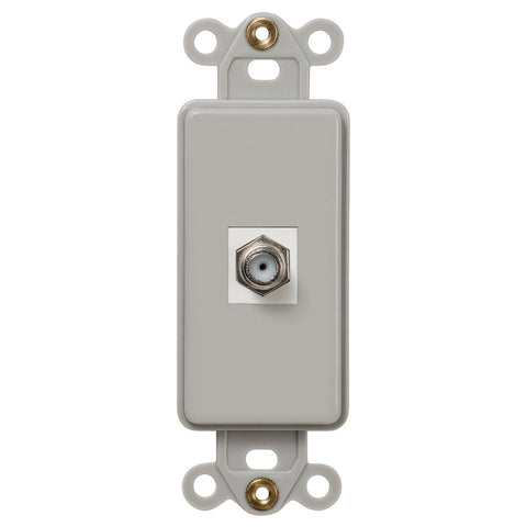 Rocker Insert Gray - 1 Cable Jack - Wallplate Warehouse