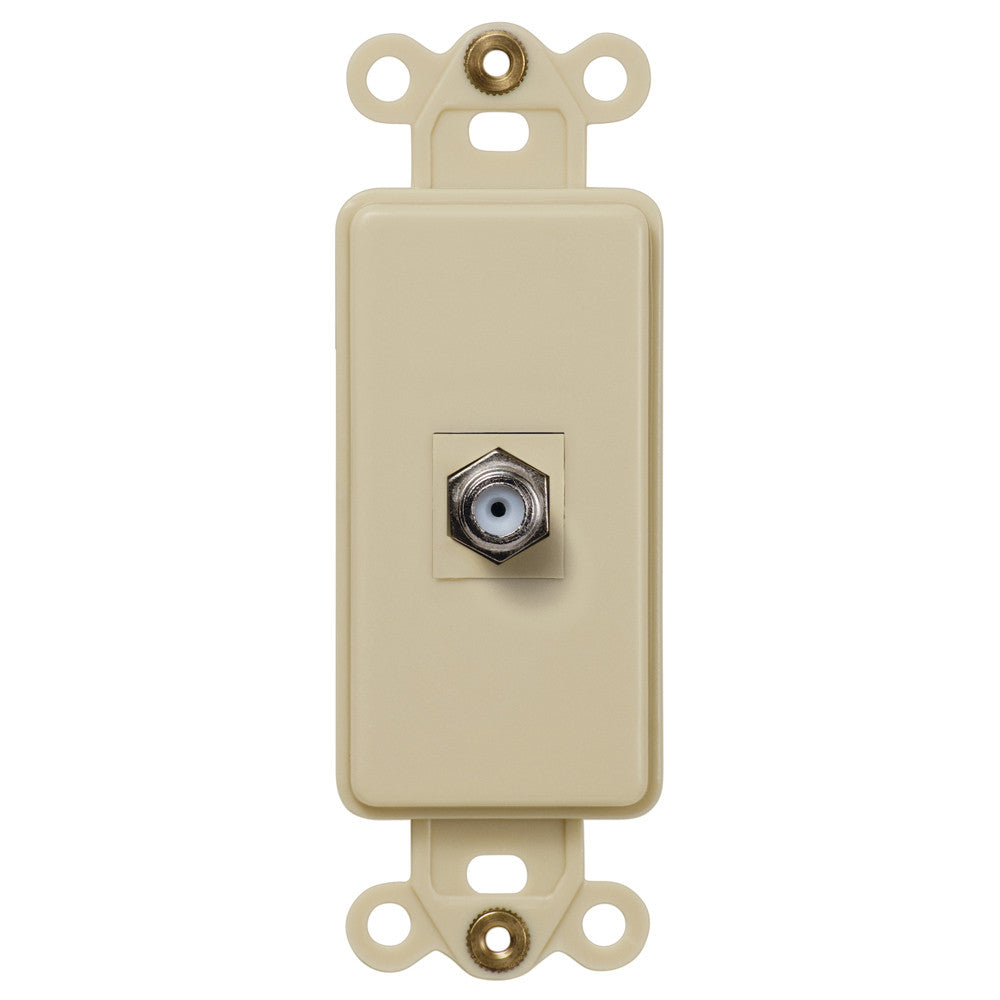 Rocker Insert Ivory - 1 Cable Jack - Wallplate Warehouse
