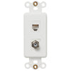 Rocker Insert White - 1 Cable Jack / 1 Phone Jack - Wallplate Warehouse