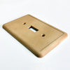 Cappuccino Cast Stone Insulated - 3 Toggle Wallplate