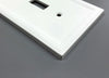 Satin White Insulated - 3 Rocker Wallplate