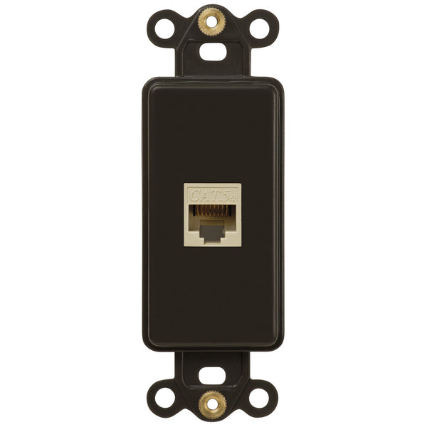 Rocker Insert Brown - 1 Data Jack - Wallplate Warehouse