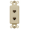 Rocker Insert Ivory - 2 Data Jack - Wallplate Warehouse