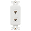 Rocker Insert White - 2 Data Jack - Wallplate Warehouse