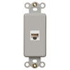 Rocker Insert Gray - 1 Data Jack - Wallplate Warehouse