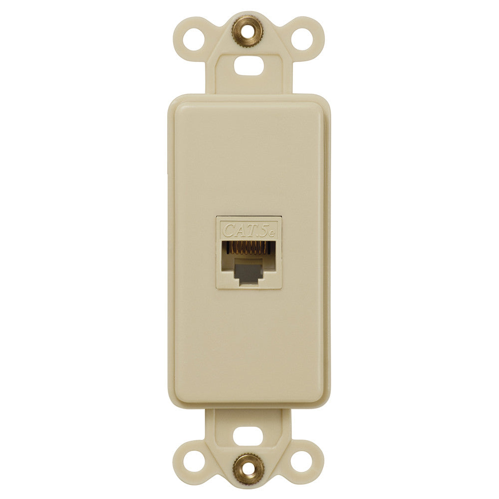 Rocker Insert Ivory - 1 Data Jack - Wallplate Warehouse
