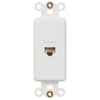 Rocker Insert White - 1 Data Jack - Wallplate Warehouse