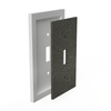 Satin Ivory Insulated - 2 Toggle Wallplate