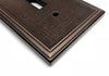 Linen Oil Rubbed Bronze Cast Metal - 1 Duplex Wallplate