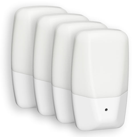 Aria LED Automatic Frosted Night Light - 4 Pack