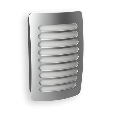 DecoPlug LED Louver Nickel Night Light