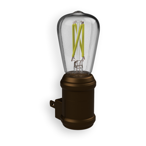 Edison Filament LED Bronze Night Light