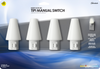 Tipi LED Manual Frosted Night Light - 4 Pack