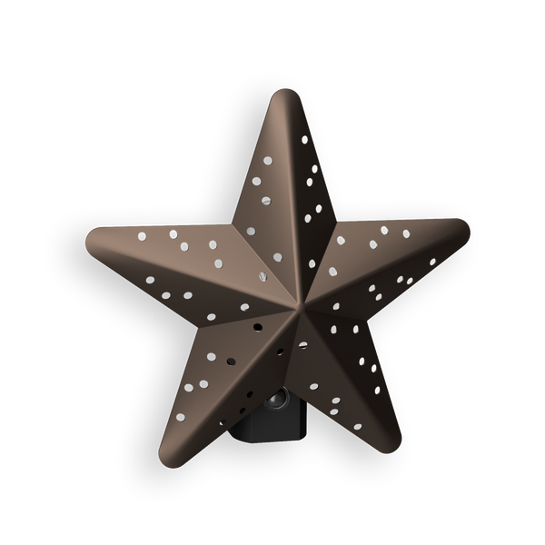 Tin Star Incandescent Automatic Bronze Night Light
