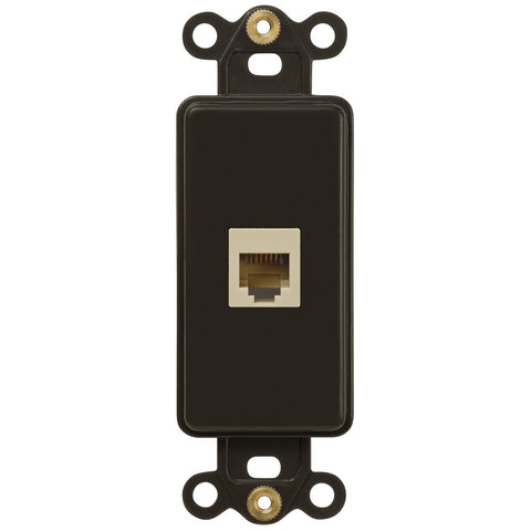 Rocker Insert Brown - 1 Phone Jack - Wallplate Warehouse