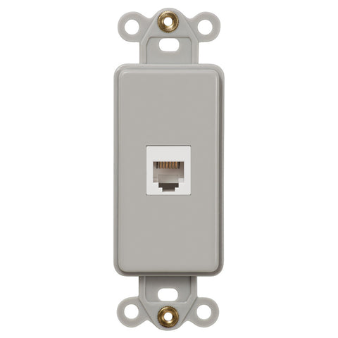 Rocker Insert Gray - 1 Phone Jack - Wallplate Warehouse