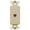 Rocker Insert Ivory - 1 Phone Jack - Wallplate Warehouse