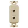 Rocker Insert Ivory - 2 Phone Jack - Wallplate Warehouse