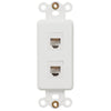 Rocker Insert White - 2 Phone Jack - Wallplate Warehouse