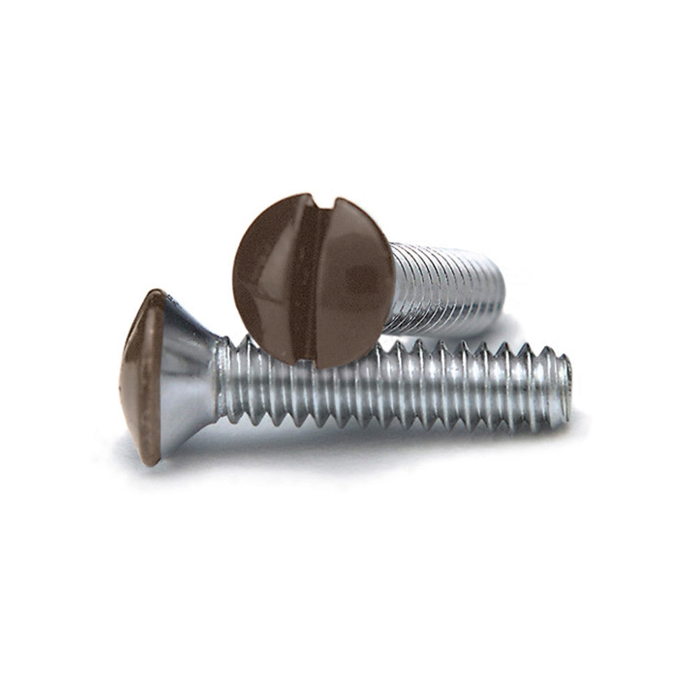 Brown 3/4 Inch Wallplate Screws - 10 Pack - Wallplate Warehouse