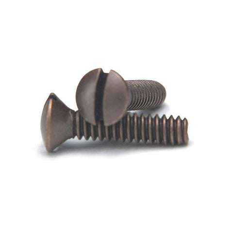 Aged Bronze 3/4 Inch Wallplate Screws - 10 Pack - Wallplate Warehouse