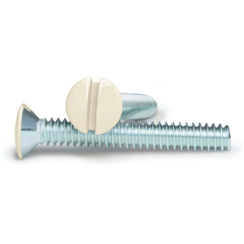Almond 1 Inch Wallplate Screws - 10 Pack - Wallplate Warehouse