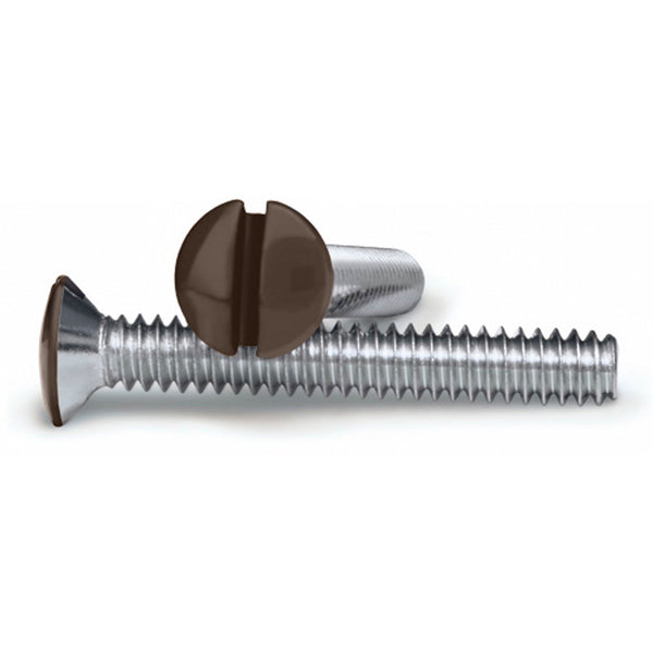 Brown 1 Inch Wallplate Screws - 10 Pack - Wallplate Warehouse
