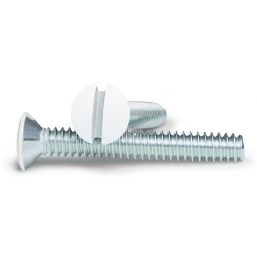 White 1 Inch Wallplate Screws - 10 Pack - Wallplate Warehouse
