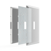 Paper-It Clear Screwless Plastic - 1 Duplex Wallplate
