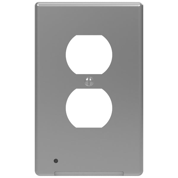 LumiCover LED Night Light - Duplex - Nickel