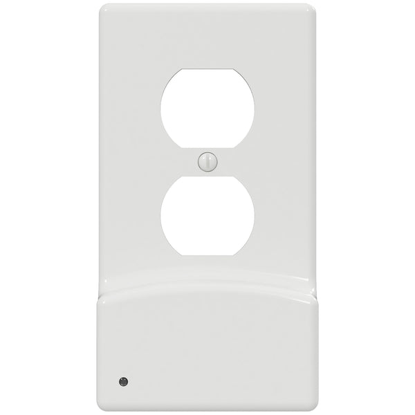 LumiCover LED Night Light & Dual USB Charger - Duplex - White