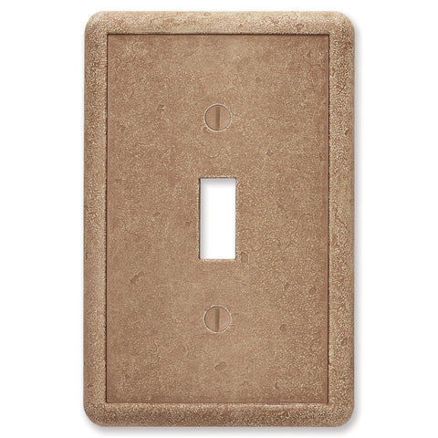 Noche Tumbled Cast Stone - 1 Toggle Wallplate