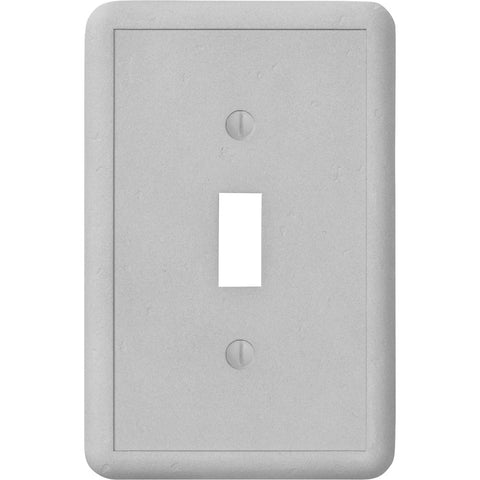 Gray Cast Stone - 1 Toggle Wallplate