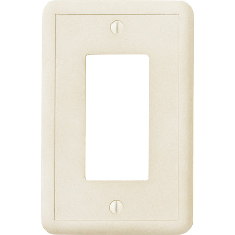 Ivory Cast Stone - 1 Rocker Wallplate